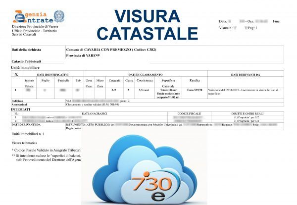 Visure catastali on line